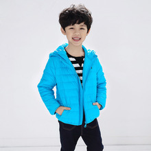 2016 High Quality Toddler Kids Baby Girls Fashion Down Coat Hooded Candy Colors White Duck Down 80% Boys Winter Jackets And Coat