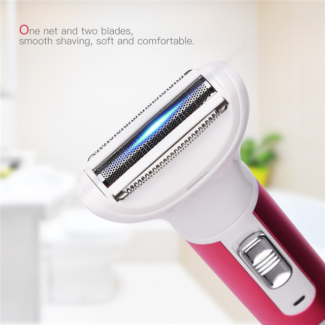USB Rechargeable 5 In 1 Woman Shaver Epilator Rechargeable Hair Removal Electric Lady Nose Trimmer Shaving Eyebrow Trimmer 2