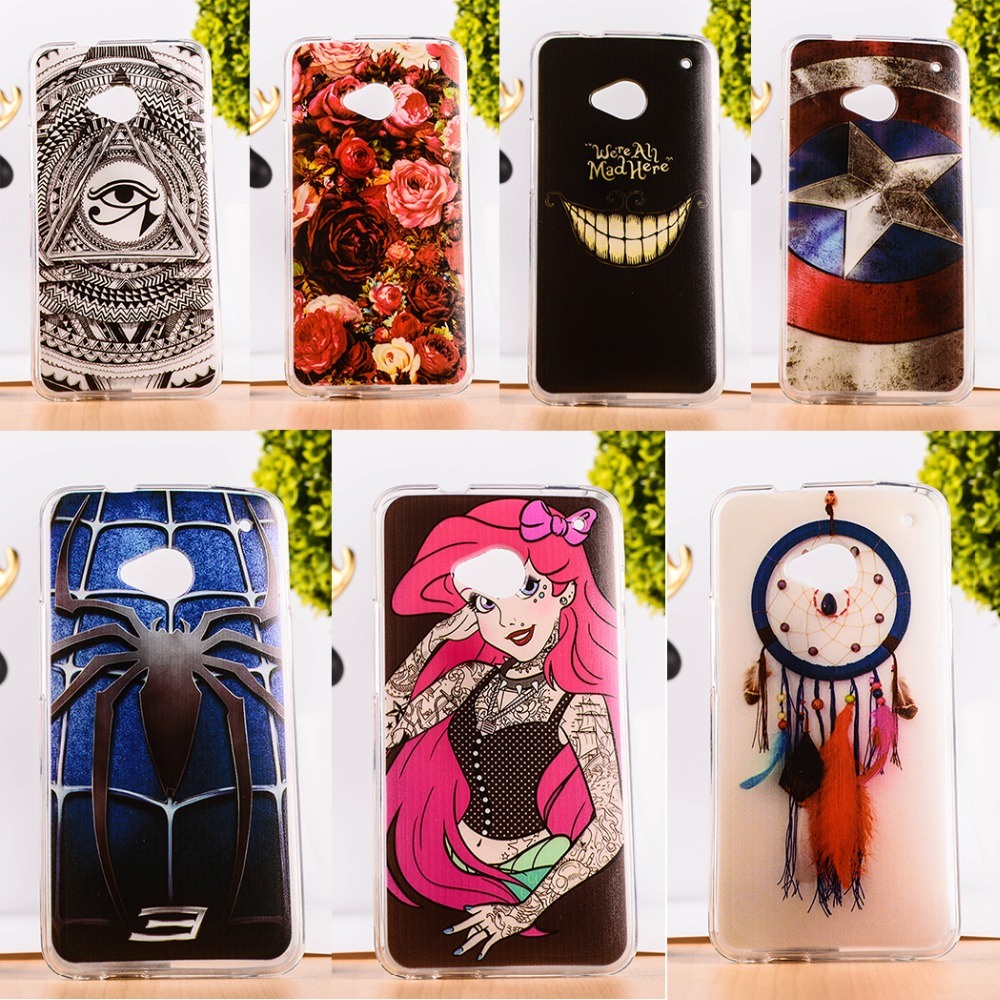TAOYUNXI Soft TPU Mobile Phone Case For HTC ONE M7 801E 801S Single Sim 801 4.7 inch Silicon Back Cover Shell Skin Shield Hoods