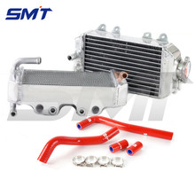 new style L&R MOTORCYCLE Aluminum Radiator & Hose aluminum Motorcycle Parts Grille Guard CoolerFor HONDA CRF150 2007 2008