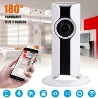 Mayitr 180 Degree Fisheye IP Camera Wireless WiFi Network Panoramic CCTV Mini Camcorders For 720P HD