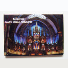 Памятные магниты США Монреаль собора Нотр Дам сувенир металлический