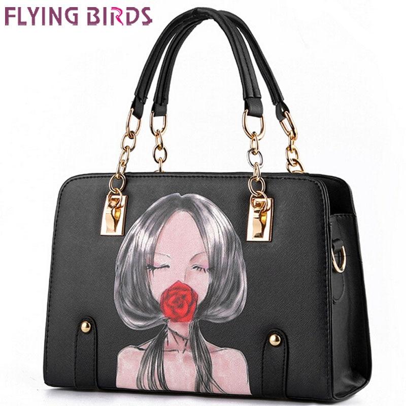 Flying birds! bolso de cuero de las mujeres famosas marcas mujer bolsos de hombr