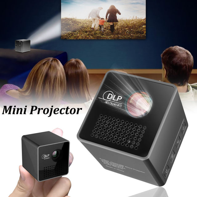 Big Promo 30 Lumens P1 Mini Projector for Pocket Size Smart Micro Proyector Support TF USB High Quality