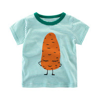 2017 Children'S New Wave Fresh T-Shirt Little Kids Summer Tees Cotton Cartoon Monkey Carrot Printing Clothes 1-10 Y