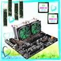 Buy best computer set HUANAN ZHI dual CPU X79 motherboard bundle RAM 32G RECC dual CPU Intel Xeon E5 2690 V2 3.0GHz with coolers