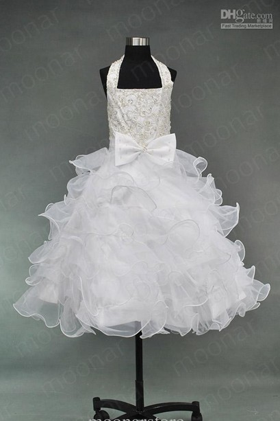 Kids Girls Pageant Bridesmaid Dance Party Princess Ball Gowns Formal Dress  Pretty Cute Dresses for Little c2c89016f30a