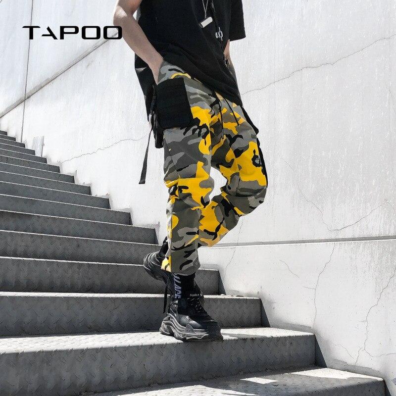 2018 Nouvelles Marques Hommes de Hip Hop Harem Pantalon Camouflage Hommes Pantalon Cargo Tactique Street Wear Lâche Hommes Poche De Pantalon parkour