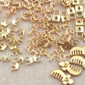 100Pcs Gold Alloy mixed 5 models Nail Art Rhinestone Decoration Metal Charm Styling Tools Cell Phone Accessories  New arrival