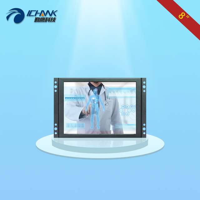K080TC-ABHUV/8 inch Open Frame touch monitor/8 inch Embedded touch monitor/8 inch Multi-function metal shell HDMI touch monitor;