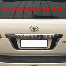 3 Color ABS Rear License Frame Plate Cover For Toyota Land Cruiser 200 FJ 200 Accessories 2008-2016