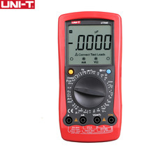 UNI T UT58E General Digital Multimeters Full Icon LCD DisplayTemperature Frequency Capacitance Diode Transistor AC DC