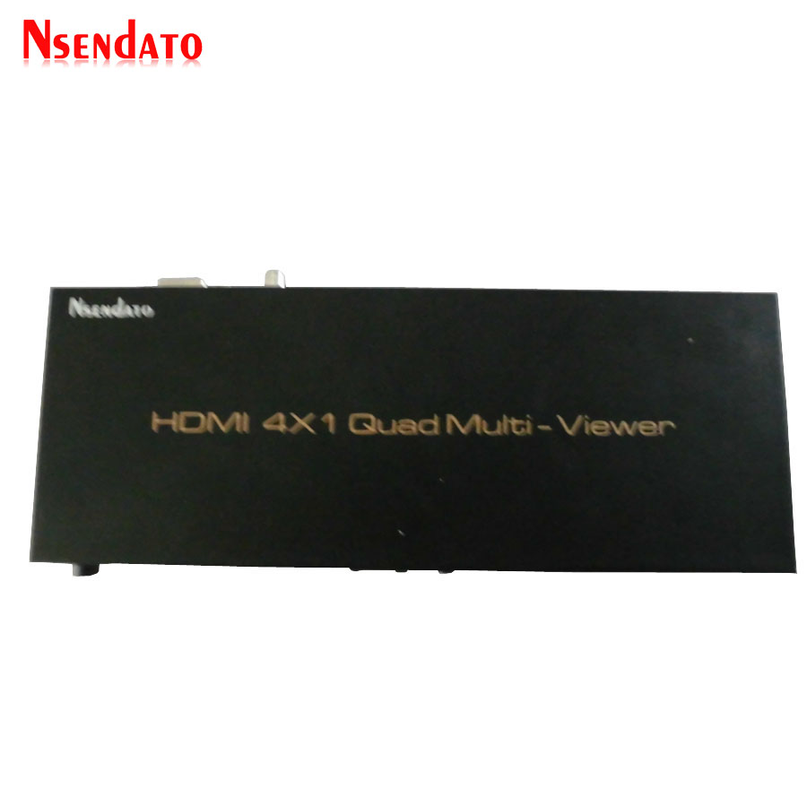 HDMI 4x1 Quad Multi-viewer Screen Splitter 4 In 1 out HDMI Adapter Converter with RS232 IR Control Operated seamless switcher цена