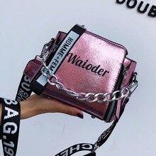 Popular bolso de mano de mujer para vacaciones PU mensajero exquisito bandolera letra bolso de hombro