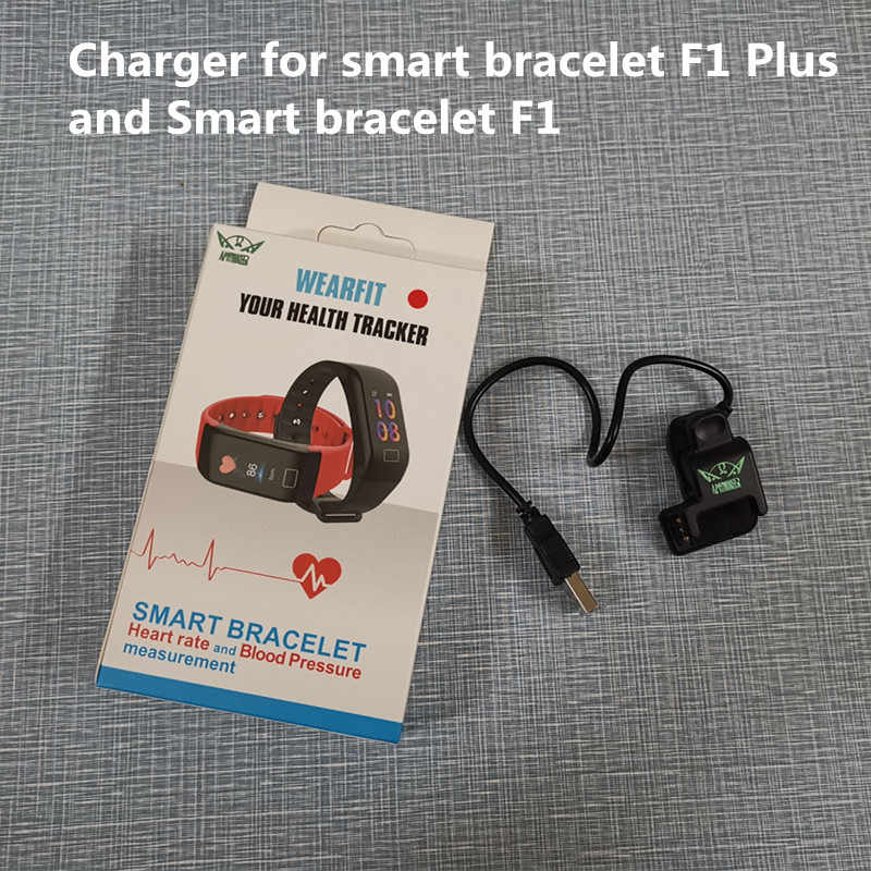 AMYNIKEER 100% original charger clip charging cable USB connection power three pins for smart bracelet F1 PLUS and band F1