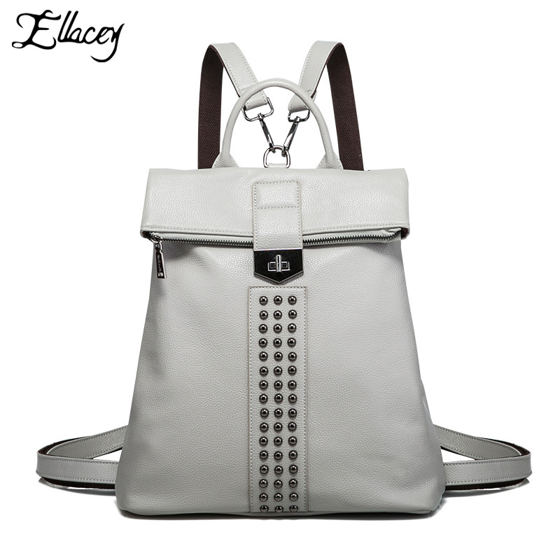 2018 New Rivet PU Leather Backpack Women Fashion School Bag Casual Patent Leather Travel Bag Women Backpack Monster School Bag h1 led bulbs super bright high power t10 h3 10 smd 5630 auto led car fog signal turn light driving drl lamp 12v white amber red