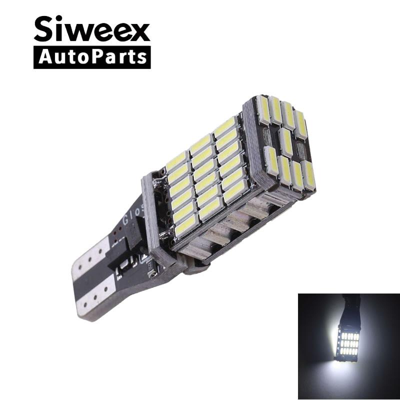 T15 W16W 921 супер яркий светодиод повышенной Мощность 45 SMD 4014 светодиодный Canbus без ошибок автомобиля резервная лампочка фонарь стоп-сигнала ксе...