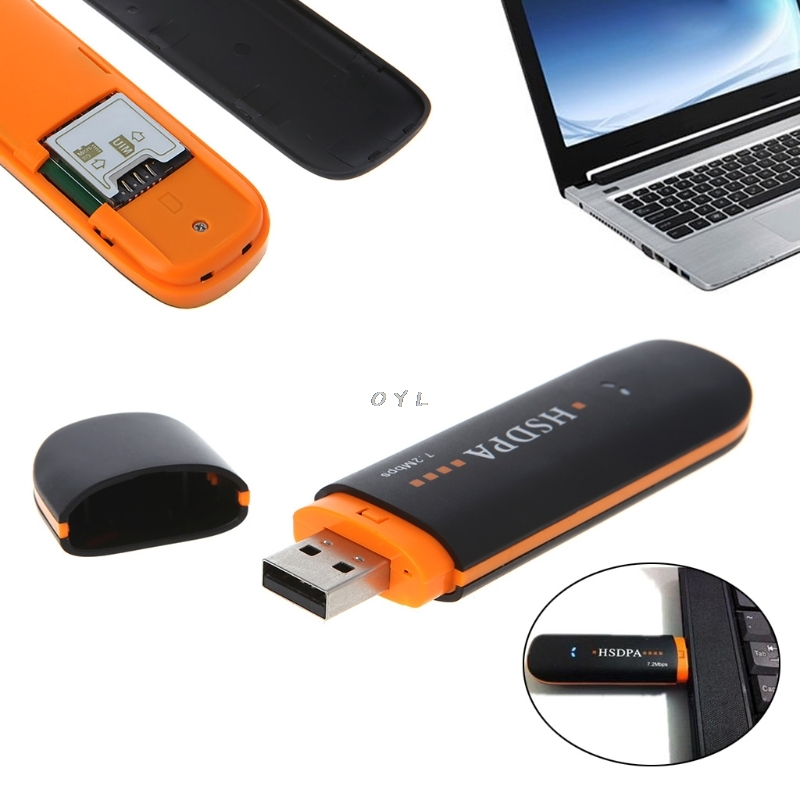 3G Wireless Internet Card Care HSDPA USB STICK SIM Modem 7.2Mbps 3G Wireless Network Adapter with TF SIM Card image