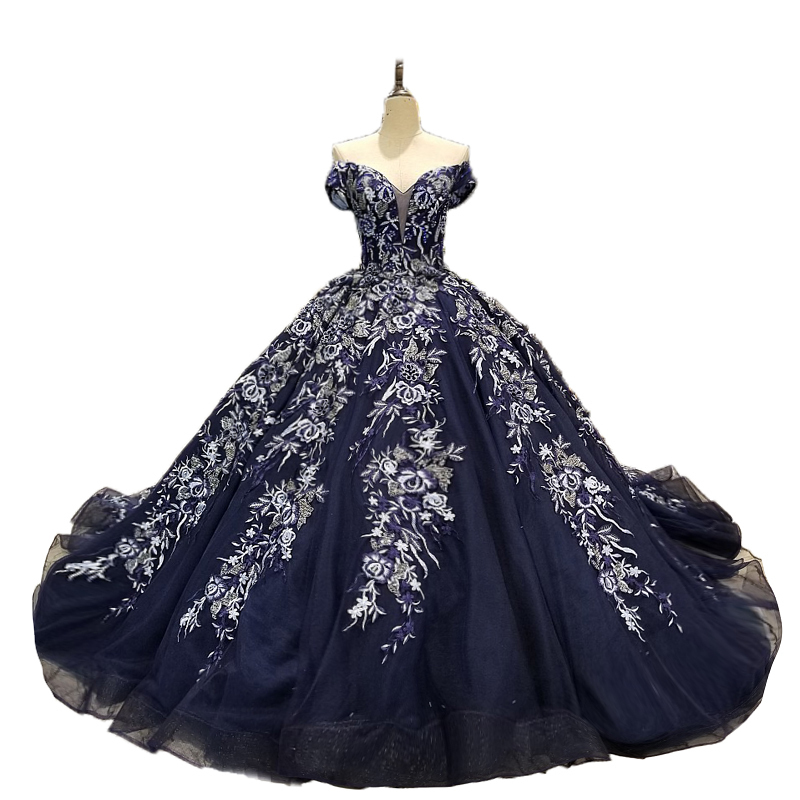 Wedding Gowns In Color: Hot Sale Special Lace Design Wedding Dress Royal Blue