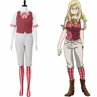 My Hero Academia Two Heroes Costume Melissa Shield Cosplay Costume Girls Boku no Hero Academia Melissa Uniform Halloween Costume