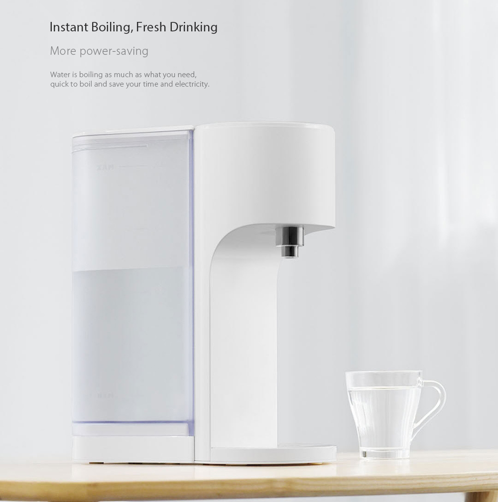 Water Treatment Appliances S2101 Smart Heating Water 3 Seconds Instant Heating Water Dispenserhigh Outlet Design 1800ml Capacity From Xiaomi Youpin Water Filters