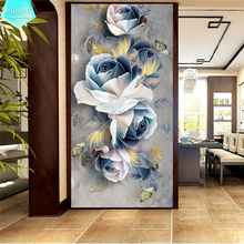 PSHINY 5D DIY Diamond embroidery sale Decorative Flower picture Full Square rhinestone Painting cross stich