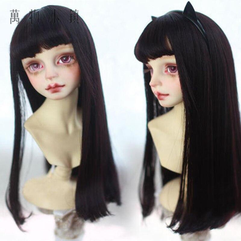 Light blue Air bangs Pear flower head wig 1//3 1//4 1//6  BJD SD MSD YOSD Doll Wig