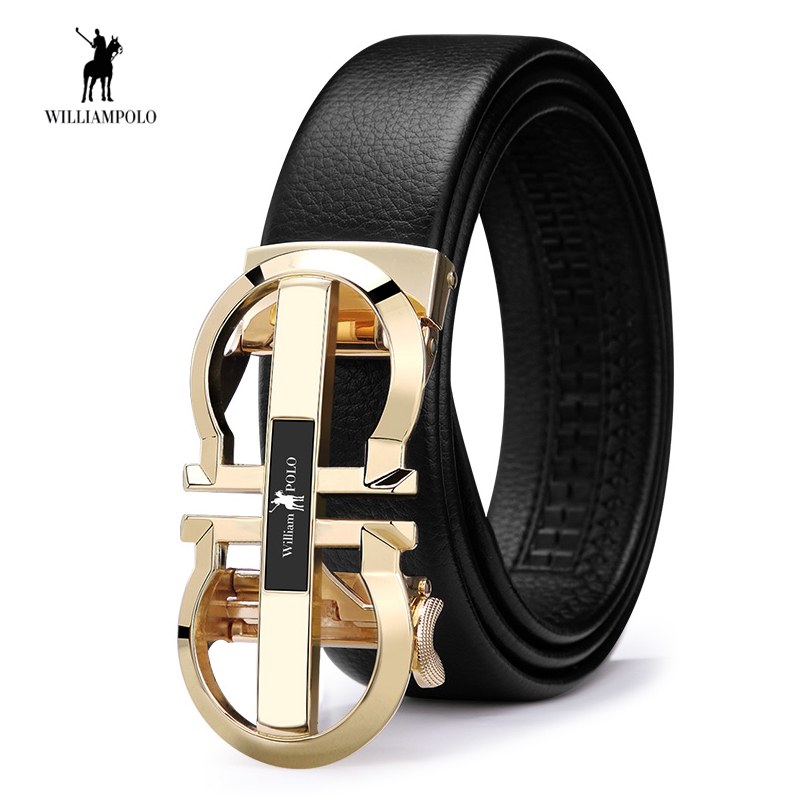 Luxury Brand Designer Leather Mens   Belt   Genuine Leather Strap Automatic Buckle Man Fashion Casual Waist   Belt   Male   Belts   Gifts