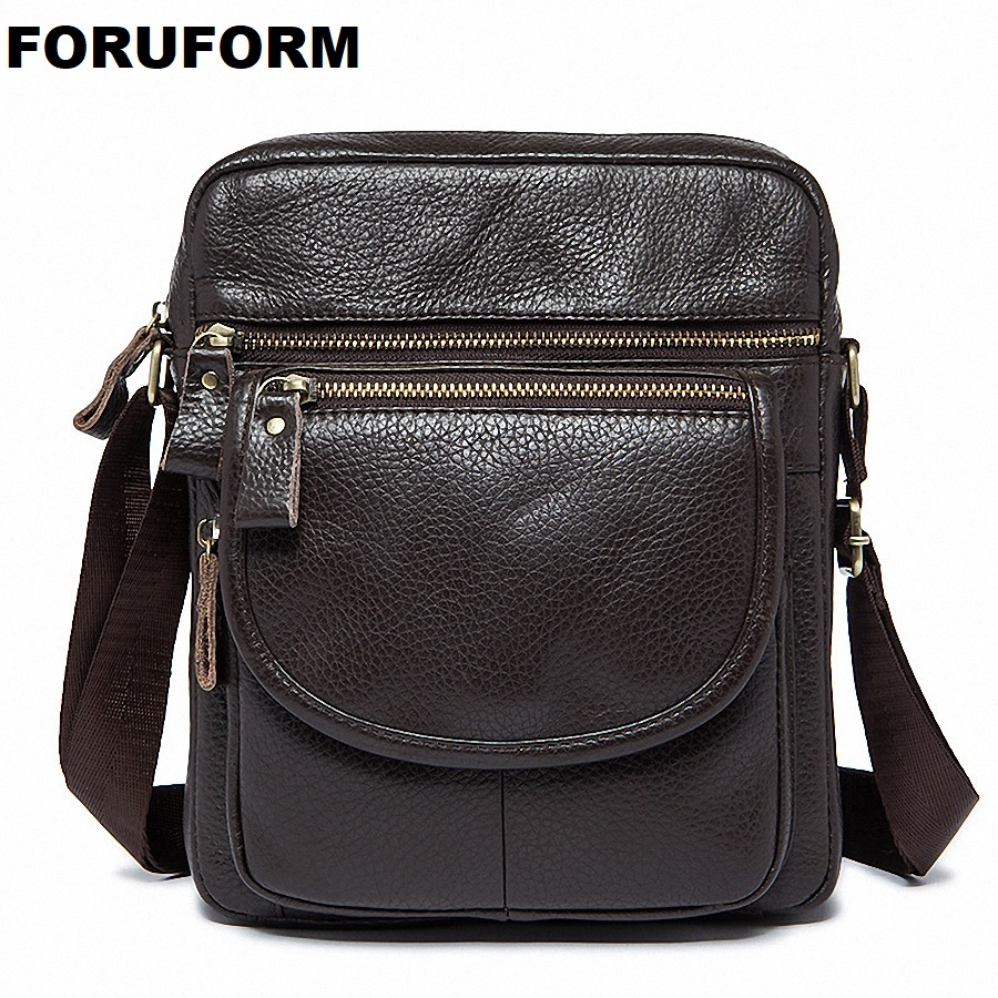 New Fashion Cowhide Man Messenger Bags Genuine Leather Male Cross Body Bag Casual Men Commercial Briefcase Bag LI-1917 deelfel new brand shoulder bags for men messenger bags male cross body bag casual men commercial briefcase bag designer handbags