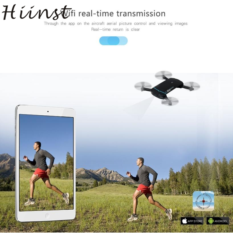 HIINST Portable Mini folding aircraft remote control 2.4G 6Axis HD Camera WIFI FPV RC Quadcopter Drone Selfie Foldable AG22 p30
