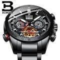 Schweiz BINGER Mechanische Männer Uhren Sport Military Uhr Relogio Masculino Wasserdichte Edelstahl Automatische Uhr Männer