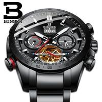 Switzerland BINGER Mechanical Men Watches Sports Military Clock Relogio Masculino Waterproof Stainless Steel Automatic Watch Men