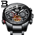 Zwitserland BINGER Mechanische Mannen Horloges Sport Militaire Klok Relogio Masculino Waterdicht Roestvrij Staal Automatische Horloge Mannen