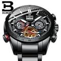 스위스 binger 기계식 남성 시계 스포츠 군사 시계 relogio masculino 방수 스테인레스 스틸 자동 시계 남자-에서스포츠 시계부터 시계 의