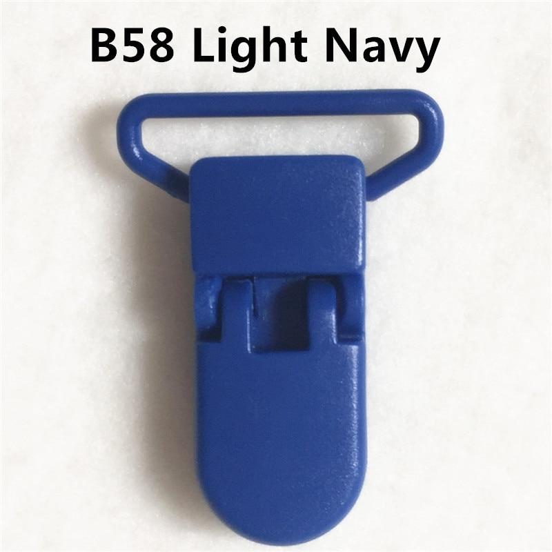 20 цветов смешанный) DHL 300 шт. Горячие формы D 2.5 см 1 ''Пластик маленьких Соски соска пустышка адаптер Chain Зажимы для 25 мм ленты - Цвет: B58