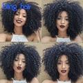 8A Peruano Kinky Curly Hair 4 Bundles Cor Natural 100 Annabelle Cabelo Peruano Virgem Cabelo Kinky Curly Weave Do Cabelo Humano encaracolado