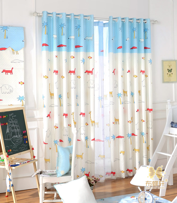 US $27.27 |New Custom Tendaggi tende camera da letto animali svegli del  fumetto per bambini-in Tende da Casa e giardino su AliExpress