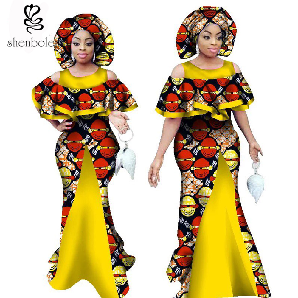 2018 african dresses for women wax printing ankara fabric