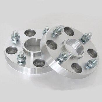 Nuevos 4 Uds. Espaciadores de rueda de 25mm de grosor, adaptadores de 4 terminales 4x114,3 66.1CB con pernos de 12x1,5