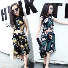 Kids Clothing Sets Girl Fashion Cotton Set Wear Girls Clothes Sleeveless Vest Summer