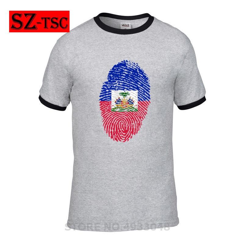 T-shirts Responsible Haiti Flag Fingerprint Men T Shirt Popular Anime T-shirts White Fitness Cartoon Tee Shirt Homme High Quality Tees Mr538 Products Hot Sale