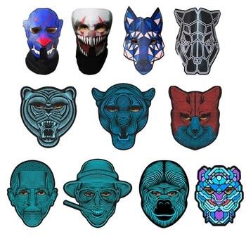 Halloween masque lumière LED Up masques drôles la Purge élection année grand Festival Cosplay Costume fournitures fête masques brillent dans le noir