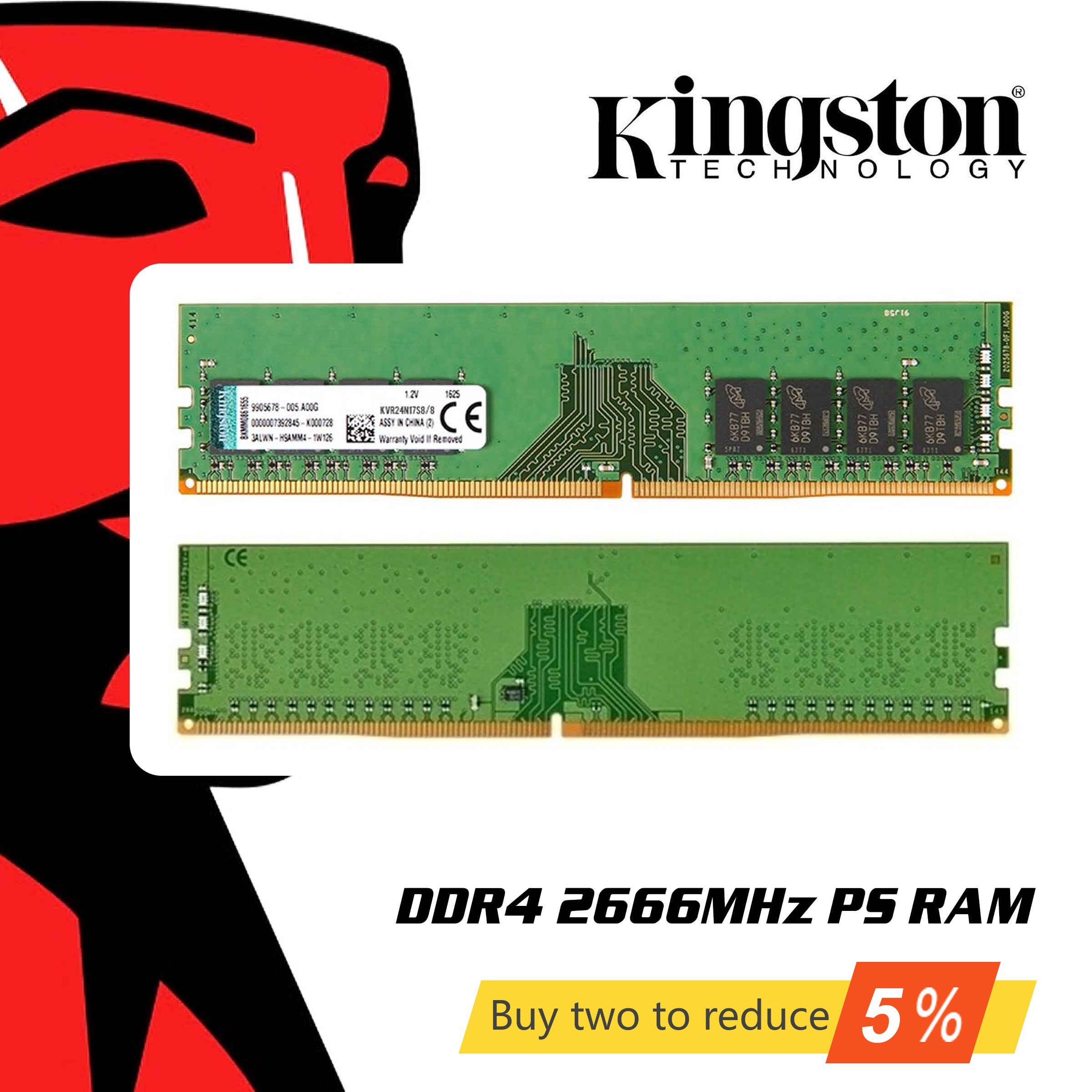 Mémoire RAM originale Kingston DDR4 8 GB 4 GB 16 GB 2666 Mhz Memoria DDR 4 8 16 gigaoctets pour ordinateur de bureau ordinateur portable
