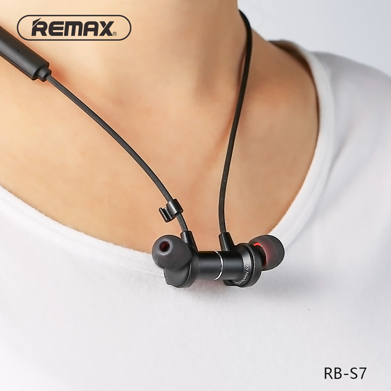 Remax RB-S7 Magnetic neckband Sports Headphone Bluetooth V4.1 Wireless HD Stereo Earphone Music Headphone With MIC Multi Connect картридж cactus cs clt c506s для samsung clp 680 clx 6260 6260fd 6260fr голубой 1500стр
