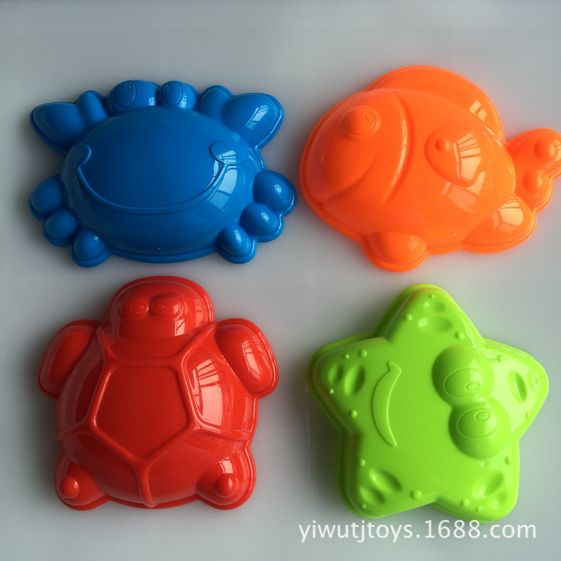 4 Pcs Set Marine Animal Mold Sand Beach Toys Playing Sand Set For Summer Fun