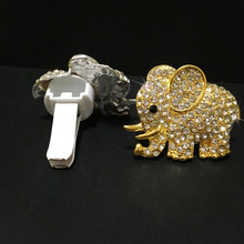 Car Air Freshener Cute Crystal Elephant Conditioning Outlet Perfume Clip Auto Products Fragrance Diffuser