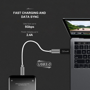 Image 3 - QGeeM adaptador macho de puerto USB 3,1 tipo C hembra A USB 3,0, de 10Gbps conector tipo A, adaptador de sincronización de datos, conector para Macbook Google