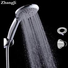 Sanitary ware suite  bathroom shower set 5 modes hand shower+ stainless steel plumbing hose+adjustable holder shower sets ZJ009