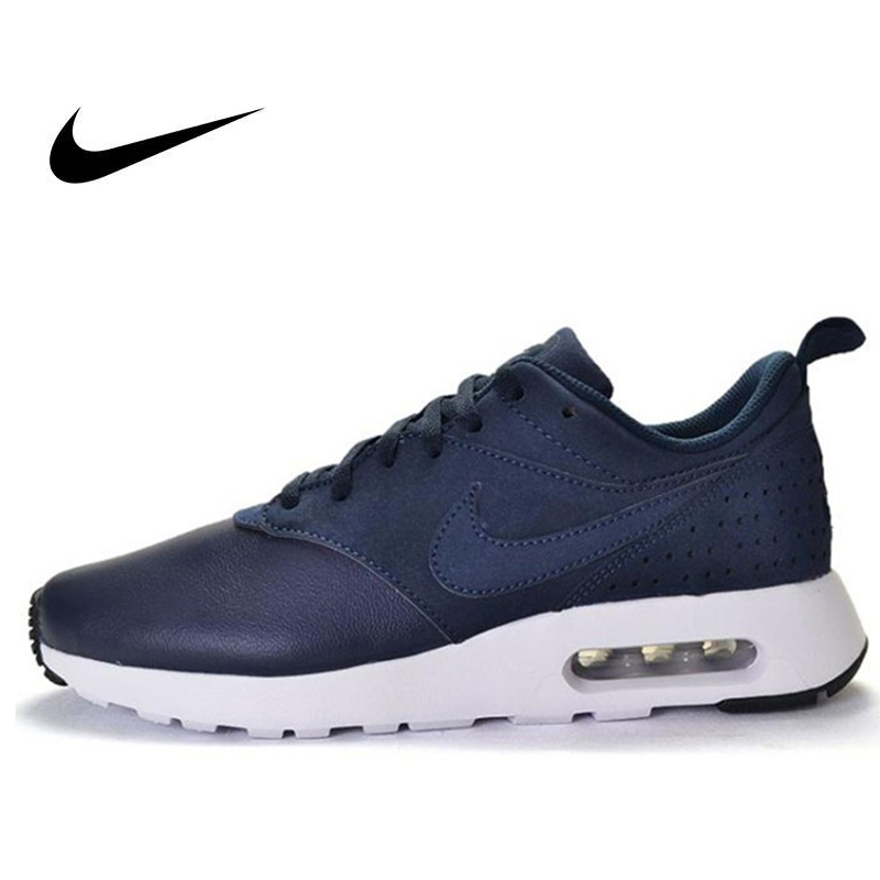 Original Officiel NIKE En Cuir Surface AIR MAX Hommes chaussures de course Bas-Top Max baskets d'air de Marche En Plein AIR de Jogging de Sport