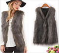 2016 Novelty Stripe Soft Loose Peacock Feather Women Vest Sleeveless Shirt Coats Female Fur Vest Jacket Casual Waistcoat Outwear